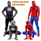 New Arrival Cosplay Spider Fullbody Lycra Spandex Halloween Man Clothes Suit Costumes