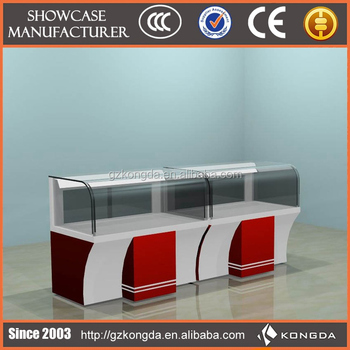 Custom design wood furniture mobile phone shop counter for Mobile furniture design