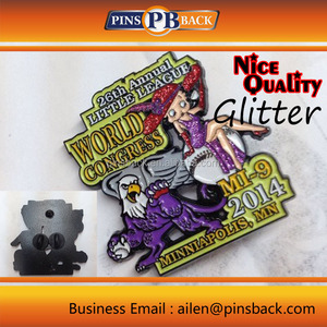 Glitter and Glow for Custom lapel pins , it can be hard enamel or soft enamel for custom lapel pins