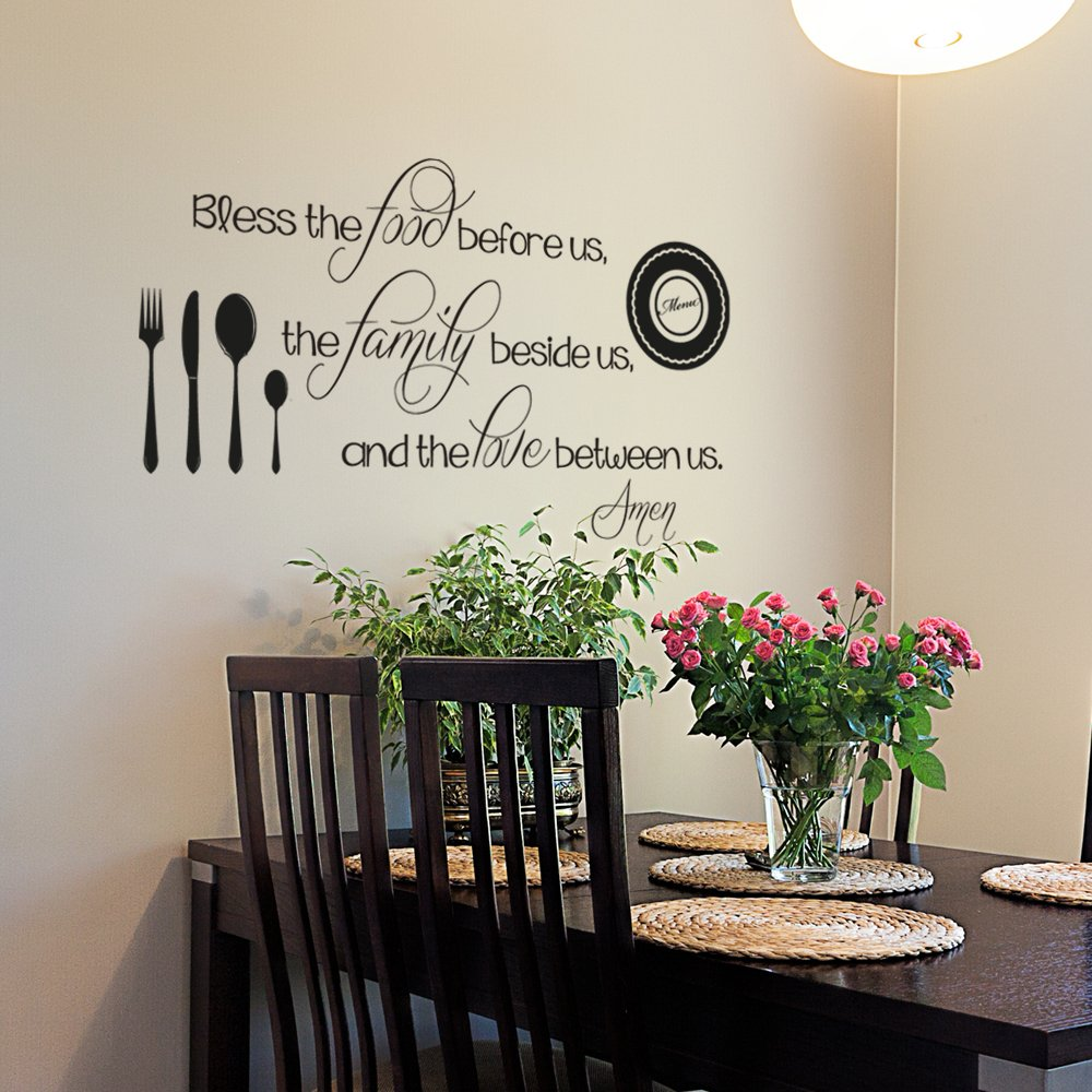 Buy Kitchen Wall Decal Bless The Food Before Us Decal Kitchen Wall Quote Dining Room Decal Religious Wall Decal Kitchen Wall Decor 46x26 Black In Cheap Price On Alibaba Com