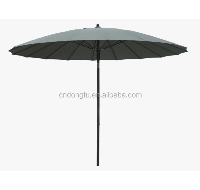 Auto Tilt Crank Red Aluminum Pole Patio Table Umbrella Parasol