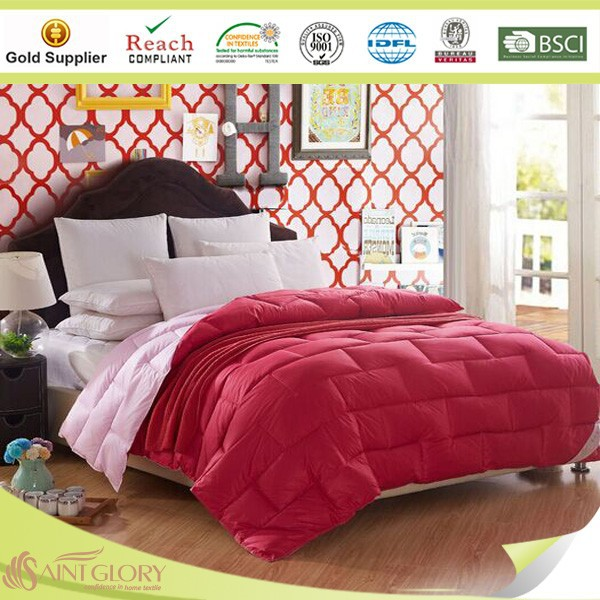 wholesale manufacturer 100%polyester fabric reversible duvet