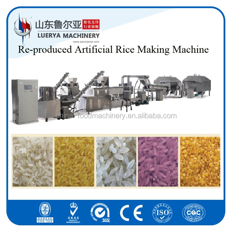Re-produced extruded artificial rice making machine