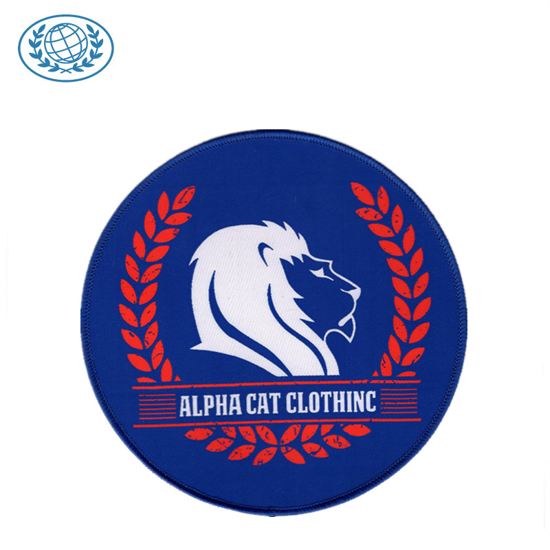 Custom Woven Embroidery Patch Logo Woven Patch Weaving Machine Merrow Border Bottom Price Woven Label Patch фото