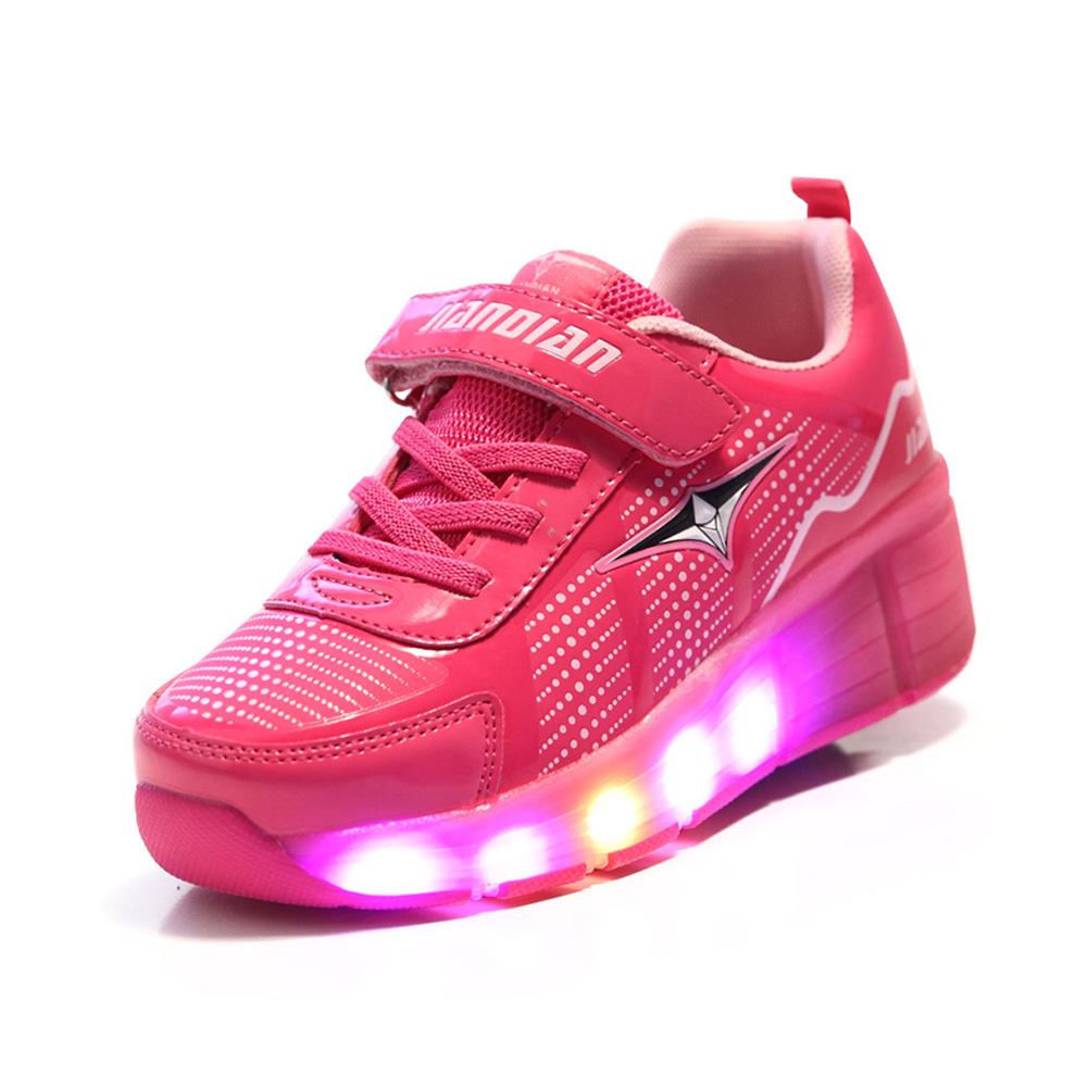 2016 New Summer Child LED Light Wheely s Heelys Roller Skate Shoes For Girls Kids Boys