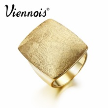 Newest Viennois Gold or Silver Plated GB Geometric Rings for Woman Jewelry Rectangular Weddings Party Rings