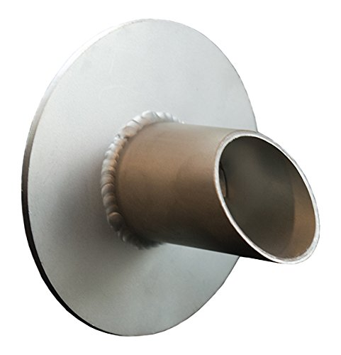 """Waverly 1.5"""" Round Water Spout Scupper Spillway for Pool, Pond, Fountain, Water Feature - Silver Metallic"""