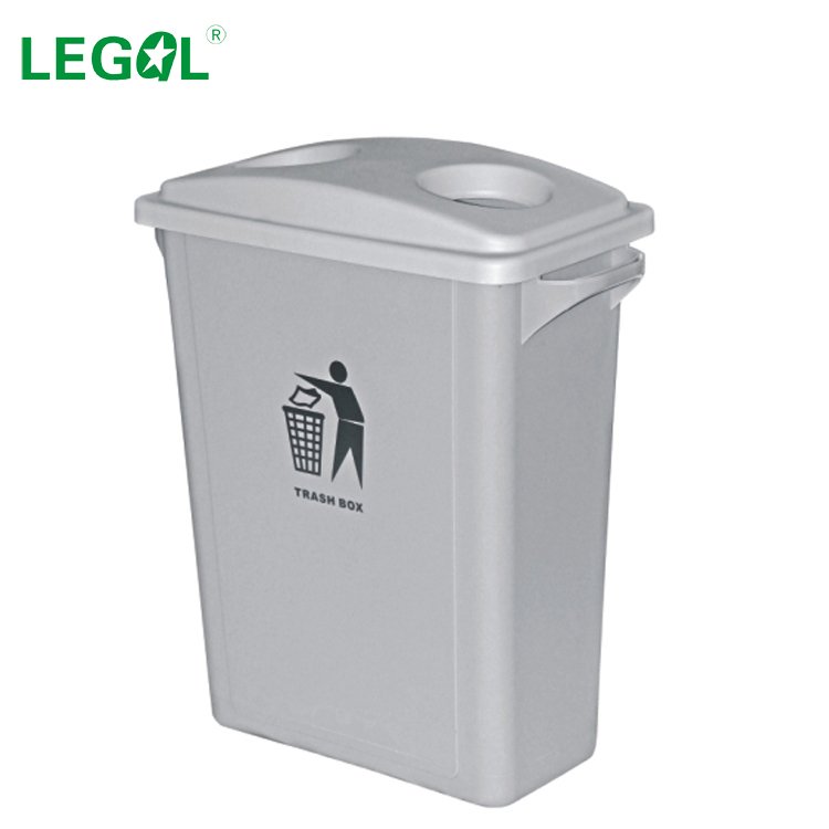 LD-65C-4 65 Liter Slim Design Plastic Recycle Garbage Bin Office Dustbin