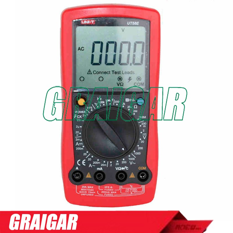 General Digital Multimeters UNI-T UT58E Voltage Current Resistance Capacitance Temperature Meter Tester
