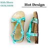 Lovely Candy Girl Beach Sandals Leather outsole Summer Children Shoes Boho Style Cork Slippers