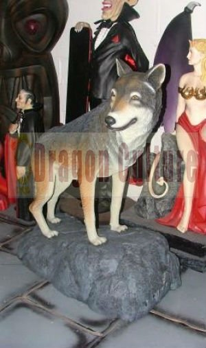 life size artificial animal statues exhibition equipment Wolf