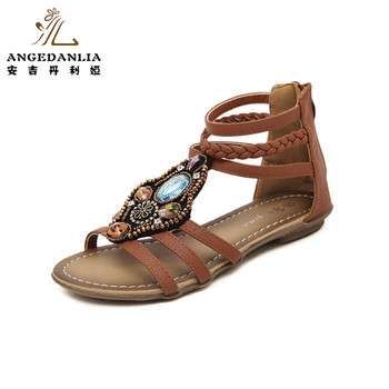 95b7286f8 2018 new bohemian fashion ladies flat sandals summer beach women shoes