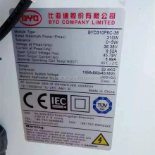 BYD company 310W high power solar panel