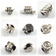Antique Silver Plated Hedgehog Snake Wolf Head Fashion Animal Shape Alloy Beads