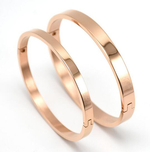 factory custom high quality popular stainless steel engraved bangle women's plated rose gold quotes bracelet 5 color