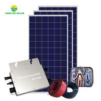 CE ISO IEC certificated solar panel system home 5kw with micro inverter