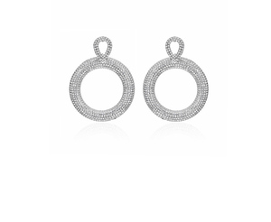 ER118 ZM modern big hoop earrings diamond earrings wholesale