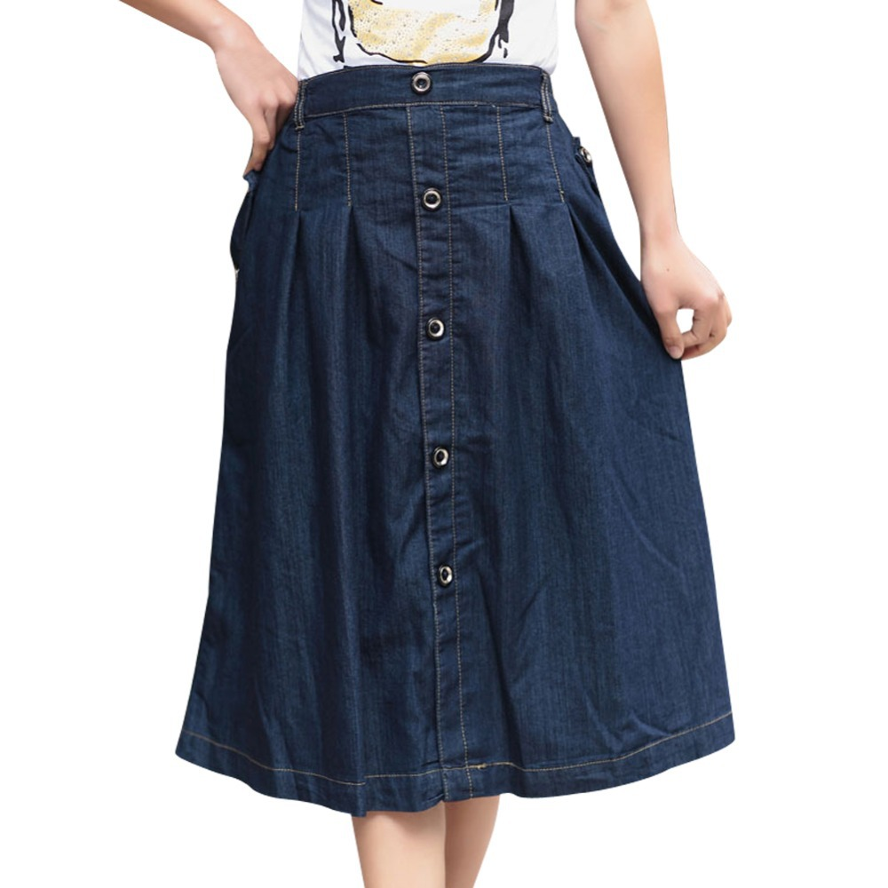 Promotion ! Lady Fashion Skirts Plus Size M-3XL Korean Female Loose Clothing New Women Casual Long Jean Skirts