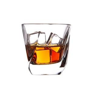Hot Selling Twisted Crystal Whiskey borosilicate glass cup