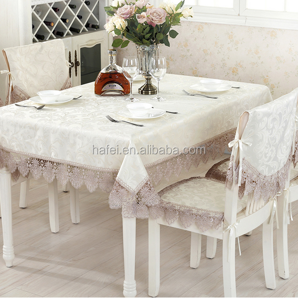 Contemporary new arrival embroidery table cloth with cutwork