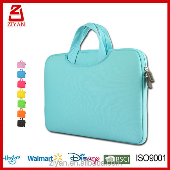 2017New Neoprene Laptop Sleeve with Handle Strap bag For Laptop