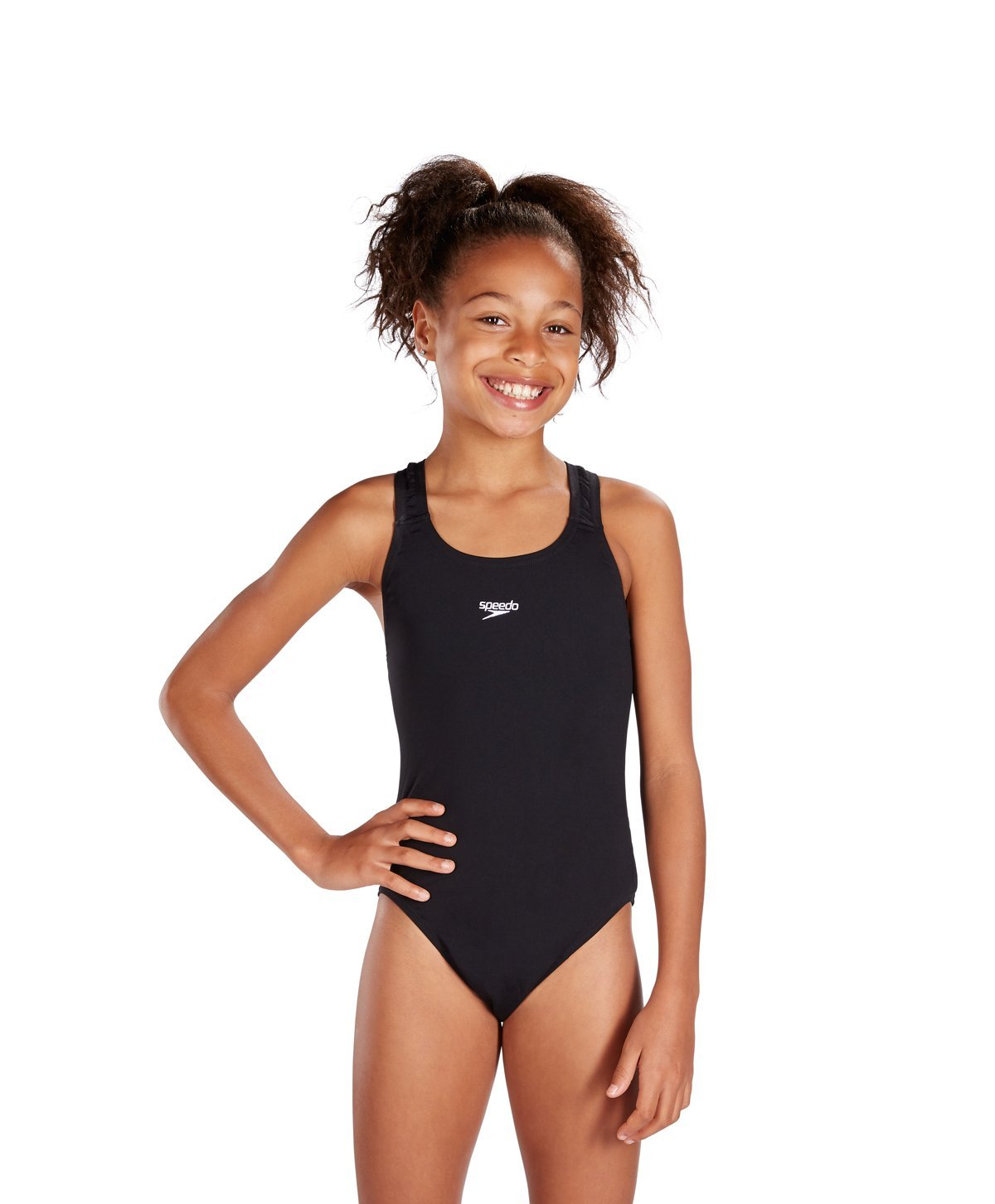 5bdb111abc4df Get Quotations · Speedo Girls Endurance Plus Medalist Swimsuit in Black or  Red