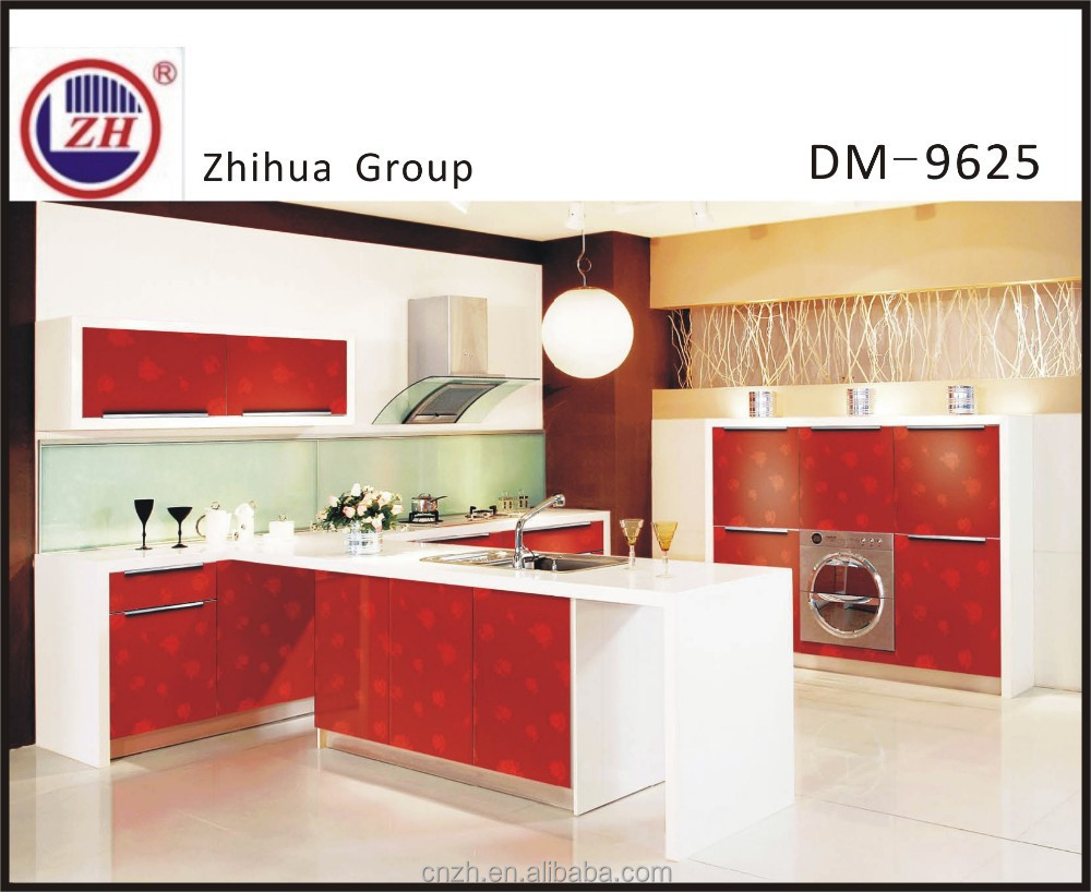 Red Color Acylic Kitchen Cabinet With Frosted Glass Door,Blum Hardwares  Kitchen Furniture   Buy Kitchen Wall Cabinets With Glass Doors,Glass  Sliding Door ...