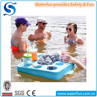 Non Inflatable Vinyl-Coated Spa Drinks Holder Lazy Bar Floating Pool tray