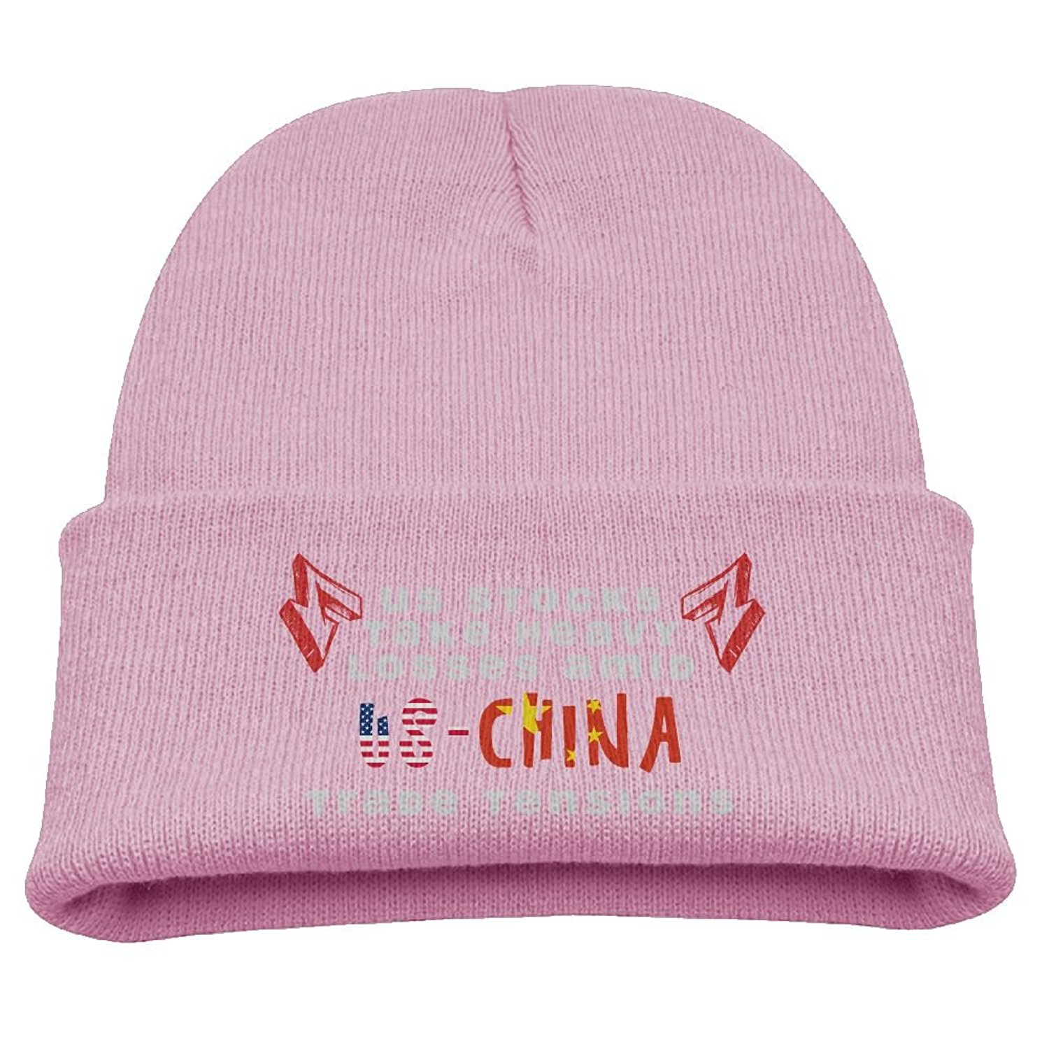 4cd5db5675c Get Quotations · US Stocks Take Heavy Losses Amid US-CHINA Trade Tensions  Kid Unisex Skull Caps Beanie