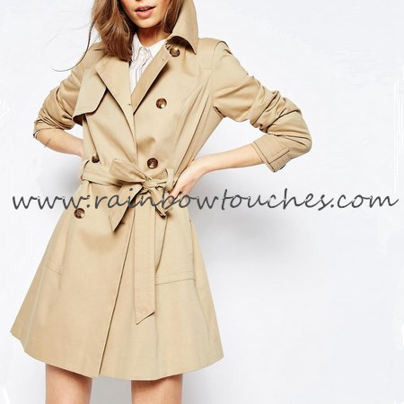 Blank custom winter ladies long coat design with high quality