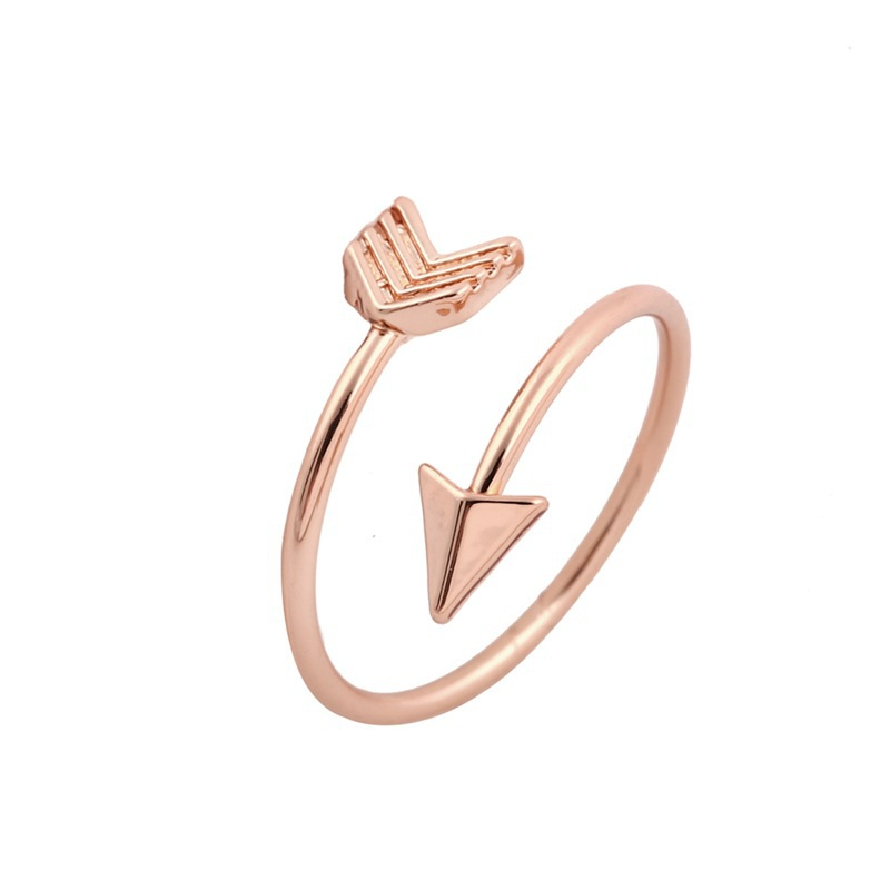 New Fashion Rose Gold/Silver Jewelry Copper Plate Nail Shape Ring For Cuople