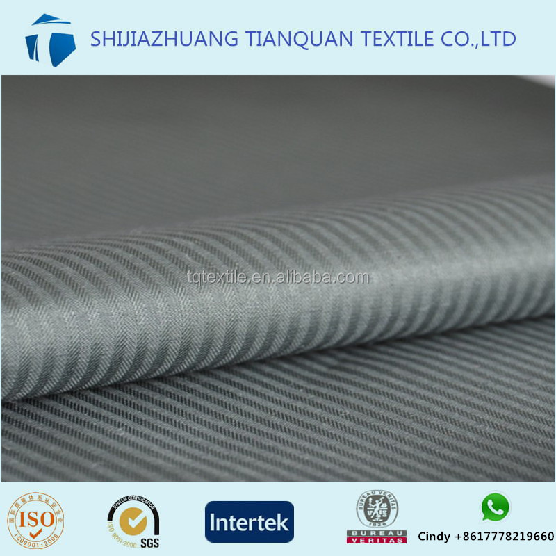 China supplier different specification 100 polyester herringbone pocket fabric