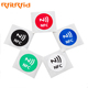 Color printed rewritable nfc chip ntag213/215 rfid nfc sticker tag