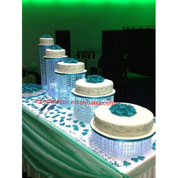 Wedding Cake With  Different Bases