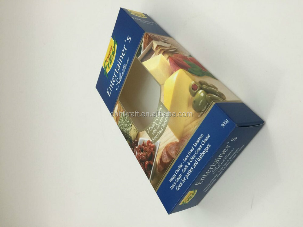 Printed Ivory cardboard paper box for food packaging