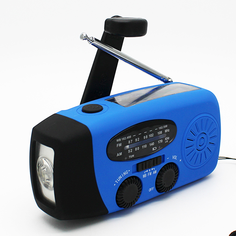 Rechargeable LED torch radio with emergency power bank