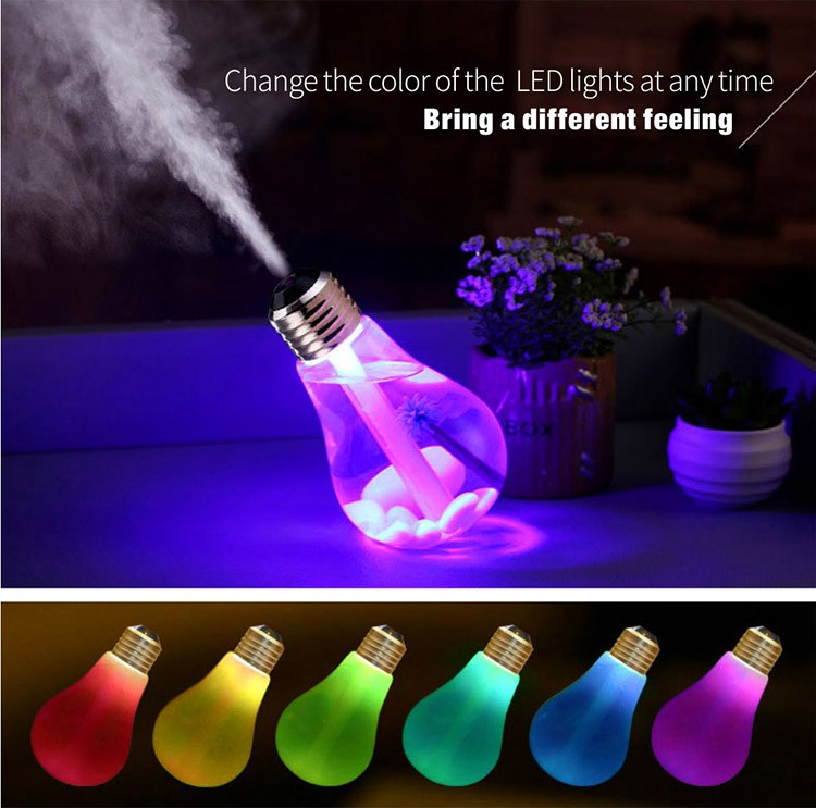 Zogift 2019 trending products colorful bulb humidifier led nightlight usb mini humidifier