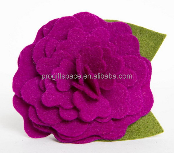 2017 new fashion hot cheap lovegirl craft decor wholesale handmade fabric felt fake artificial rose flower export made in China