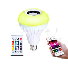 hot products color changing bt speaker RGB led bulb music player with led light bulb