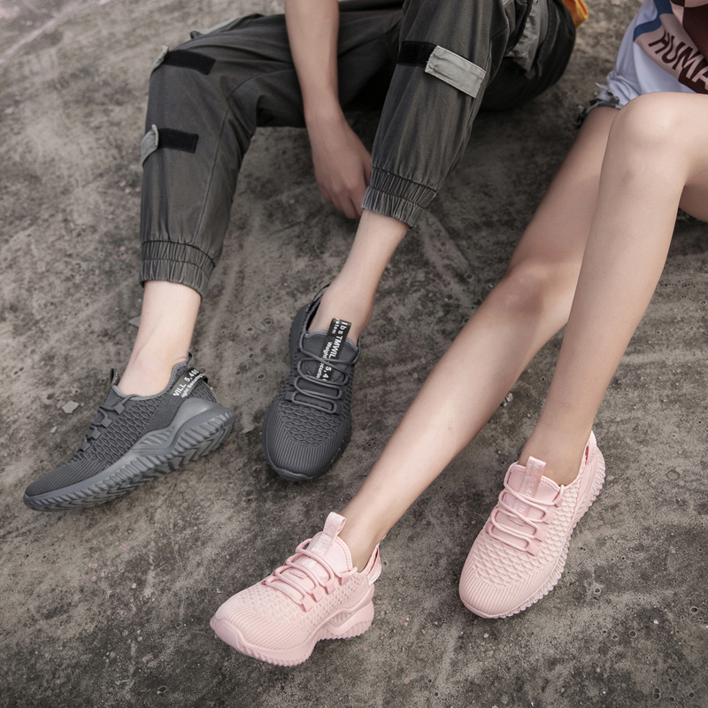 New style Fashionable lightweight fly knit lovers sports shoes