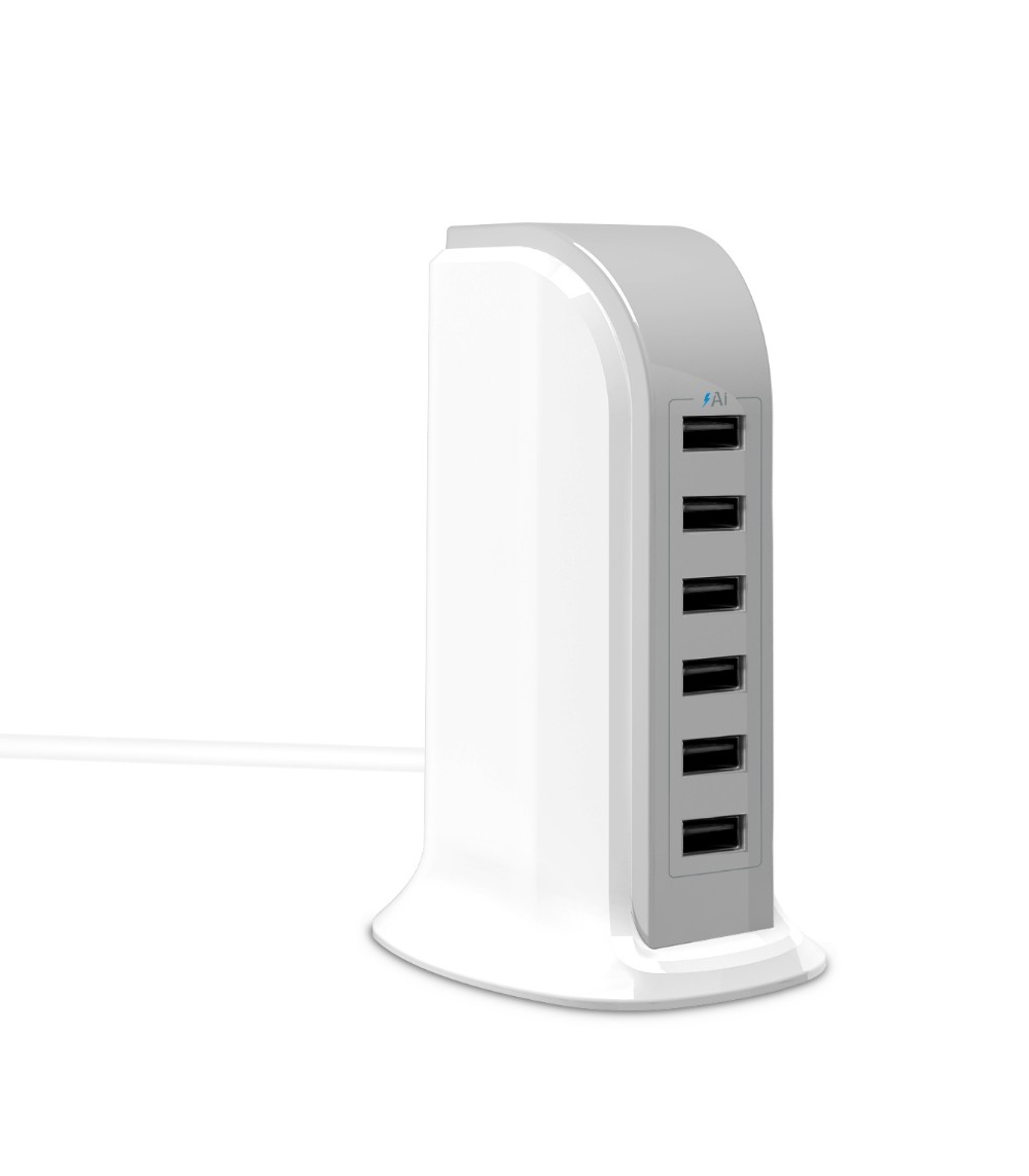 unique design 6port usb charge tower for vw multi mobile phone charger