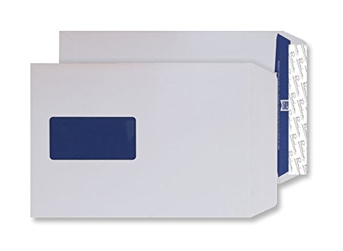 Premium Pure C5 229x162mm Peel and Seal Window Wallet Envelope - Super White (Pack 500)