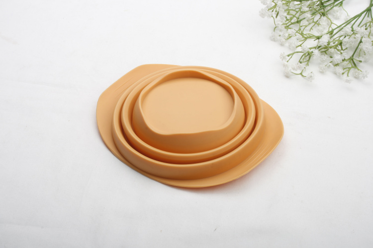 Food grade silicone collapsible soup bowl