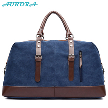 AURORA guangzhou OEM personalizzata uomini <span class=keywords><strong>di</strong></span> grande capacità vintage <span class=keywords><strong>blu</strong></span> della tela <span class=keywords><strong>di</strong></span> canapa <span class=keywords><strong>di</strong></span> viaggio <span class=keywords><strong>duffle</strong></span> bag