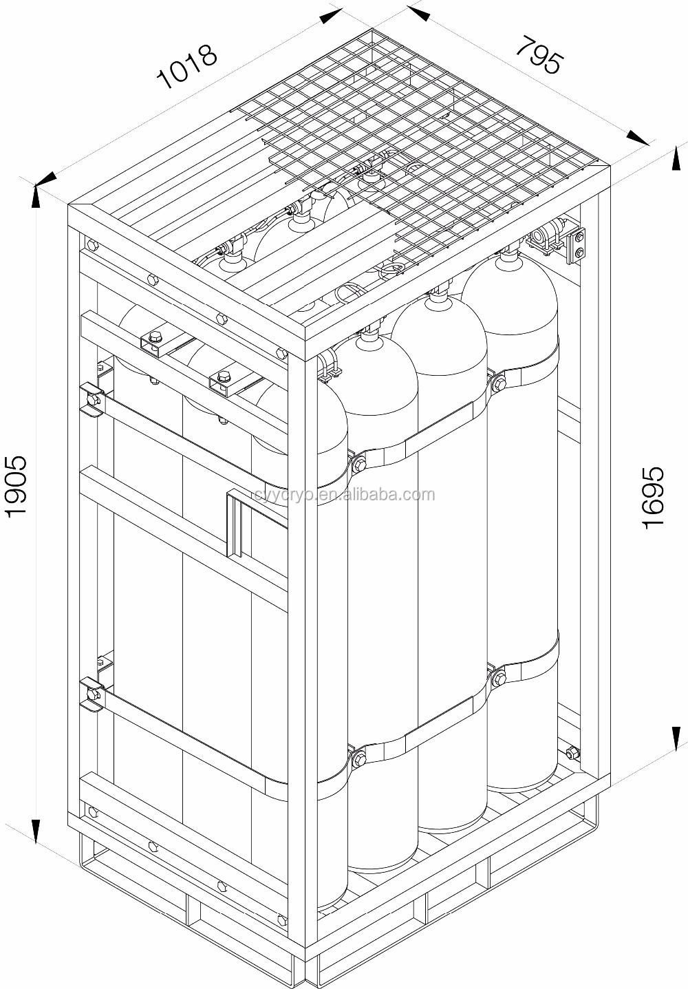 Gas Cylinder Bundle For Oxygen Argon Nitrogen Gas Cylinder