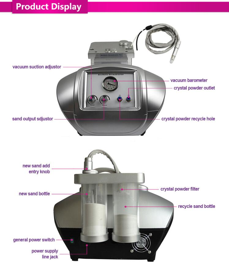 Portatile Del Diamante microdermoabrasione cristallo macchina buccia microdermabracion