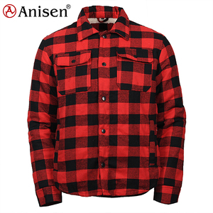 high quality 100% cotton check winter flannel shirt men