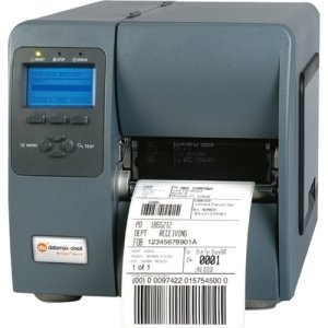 "Datamax-O'Neil M-Class M-4206 Direct Thermal/Thermal Transfer Printer - Monochrome - Label Print - 4.25"" Print Width - 6 in/s Mono - 203 dpi - 8 MB - USB - Serial - Parallel - LCD - 4.65"" - KD2-00-48000007"