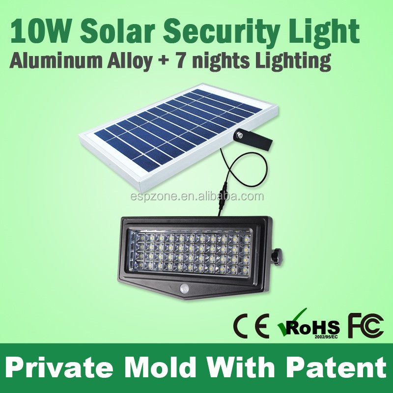best price Aluminum Alloy Case Outdoor Rechargeable 7w Solar Led for Home Security Sresky ESL-09