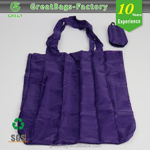 Printed custom made reusable folding shopping bags